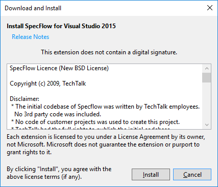 specflow-extension-vs2015-install